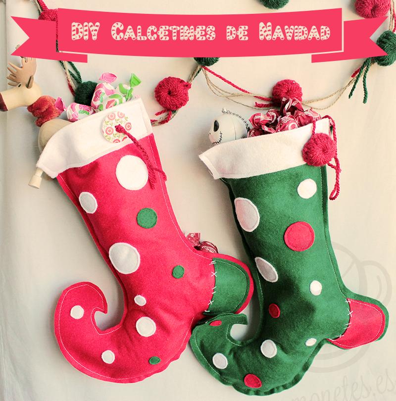 Calcet n de navidad tutorial - Calcetines de navidad personalizados ...
