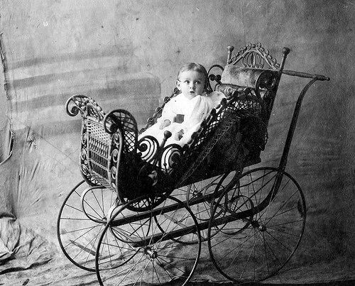Bob Bruce - Baby in Carriage - 1900