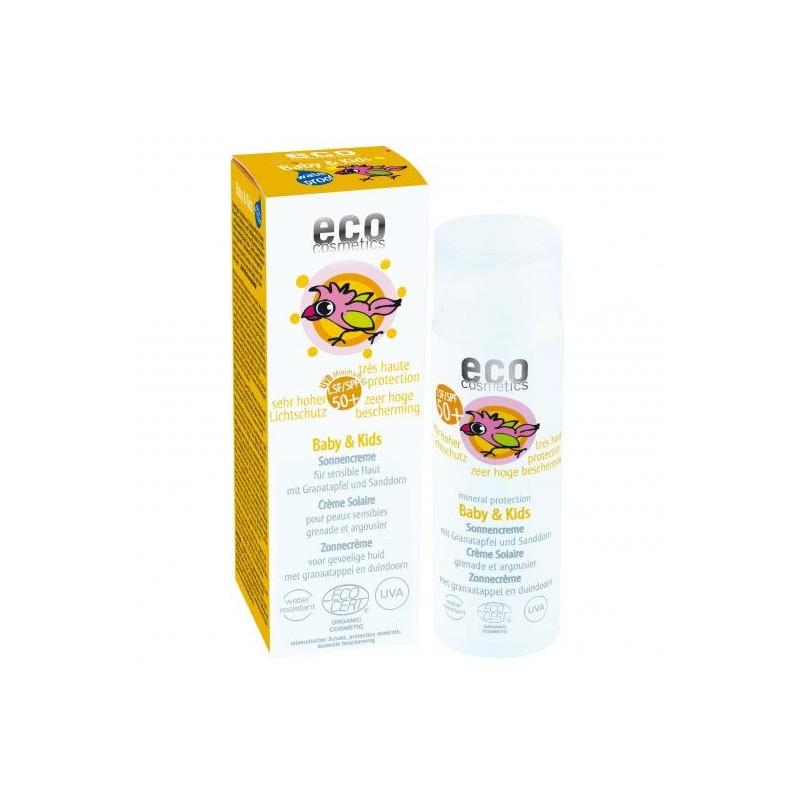 Crema solar filtro físico. Ingredientes 100% de origen natural.